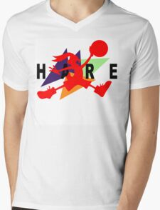 Hare Jordan Mens V-Neck T-Shirt