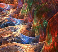 On Angels Wings (vibrant) by Sandra Bauser Digital Art