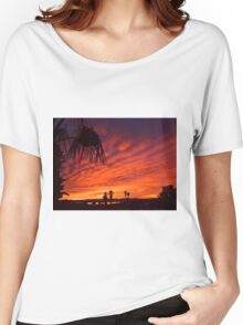 Christmas Eve Sunset Women's Relaxed Fit T-Shirt