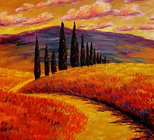 Tuscany Cypress Path by sesillie
