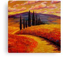Tuscany Cypress Path Canvas Print