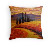Tuscany Cypress Path Throw Pillow