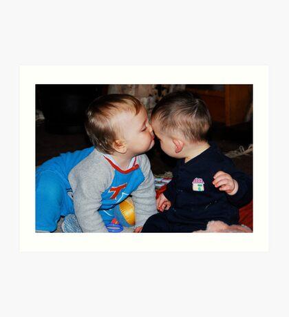 Kissing Cousins Art Print