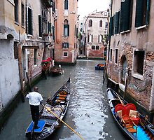 Gondolas in Venice, Italy by Ralph Angelillo
