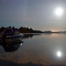 Moon over Rotoiti by Paul Mercer
