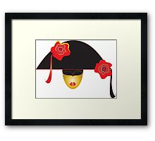 venice mask  Framed Print