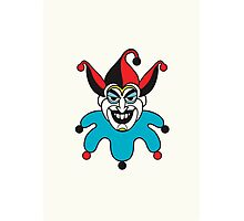 Clean Joker Card Photographic Print