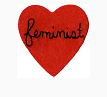 Feminist Heart Womens Fitted T-Shirt