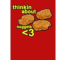 Thinking about nuggets <3 Photographic Print