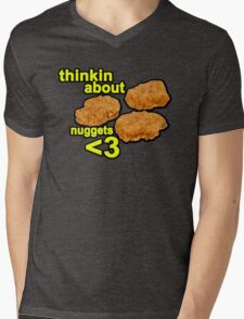 Thinking about nuggets <3 Mens V-Neck T-Shirt