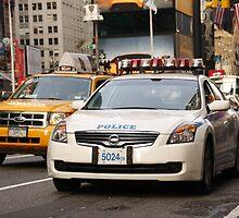 Police Car - Times Square, New York City by richardjames