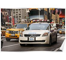 Police Car - Times Square, New York City Poster