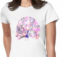 technicolor peacock Womens Fitted T-Shirt