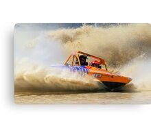 jet boat albury races Canvas Print