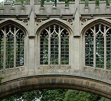Bridge of Sighs, St Johns College, Cambridge UK by Trish Kinrade