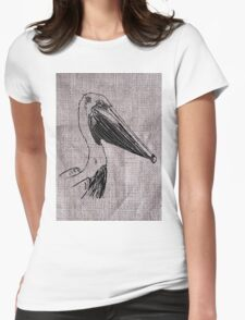 Pelican on Burlap T-Shirt
