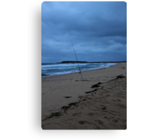 Gone Fishing... Bad Weather Approaching Canvas Print