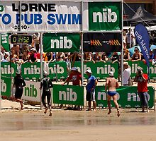 Pier to Pub - annual swimming event at Lorne by Rhonda F.  Taylor