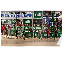Pier to Pub - annual swimming event at Lorne Poster