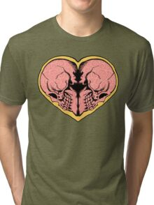 Valentines Day of the Dead Tri-blend T-Shirt