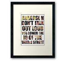 Johnlock quote Framed Print