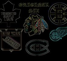 Original Six Hockey by Kamholz