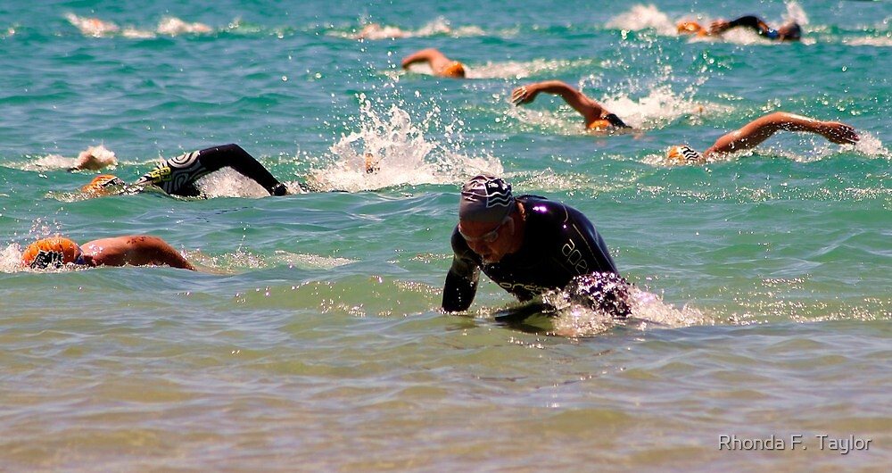 Swimmers - Lorne Pier to Pub event by Rhonda F.  Taylor