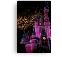 Fireworks in Pink Canvas Print