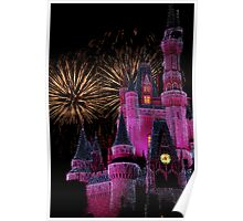 Fireworks in Pink Poster
