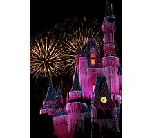 Fireworks in Pink Photographic Print