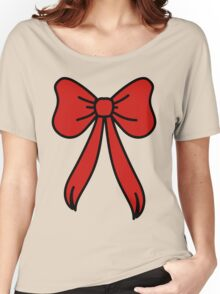 big red bow Women's Relaxed Fit T-Shirt