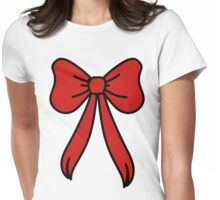 big red bow Womens Fitted T-Shirt