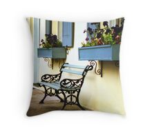 Rainbow Row Bench Throw Pillow