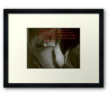 THE GREATEST COMMAND Framed Print