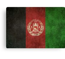 Old and Worn Distressed Vintage Flag of Afghanistan Canvas Print
