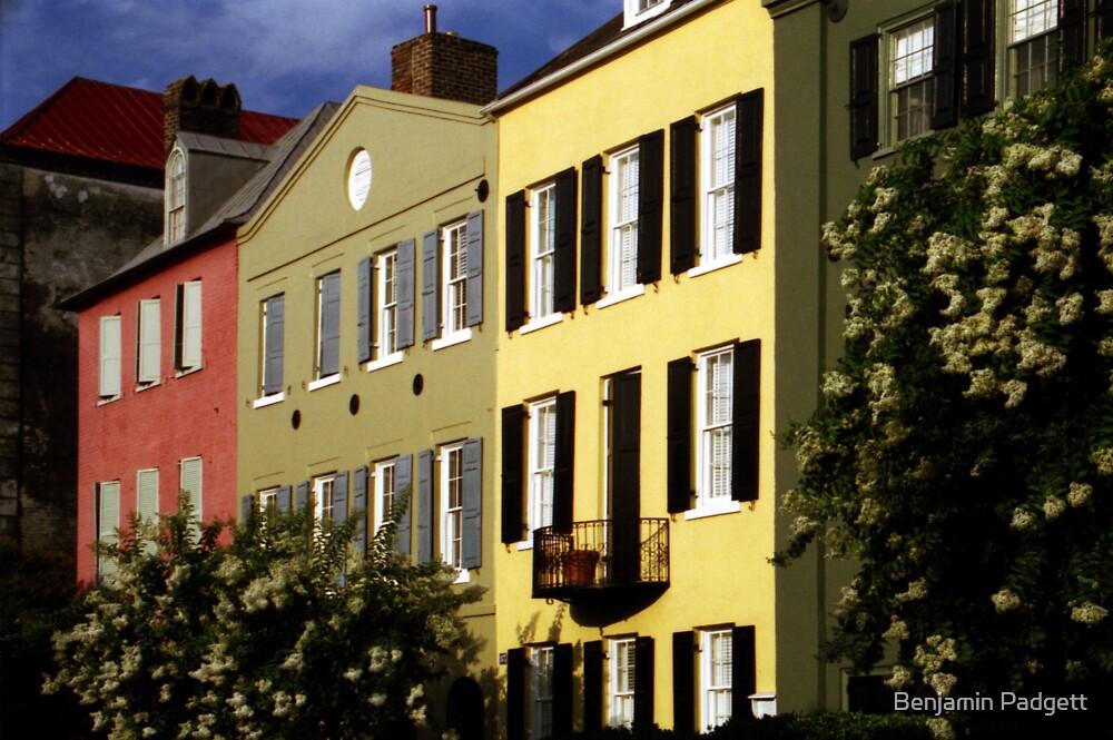 Rainbow Row No. 2, Charleston, SC by Benjamin Padgett