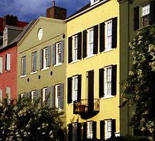 Rainbow Row No. 2, Charleston, SC by Benjamin Padgett
