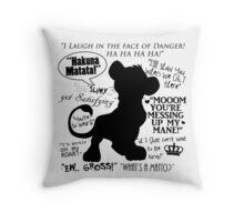 Simba Quotes Throw Pillow