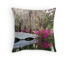 Magnolia Bridge No. 4, Charleston, SC Throw Pillow