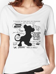 Simba Quotes Women's Relaxed Fit T-Shirt