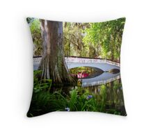 Magnolia Bridge No. 2, Charleston, SC Throw Pillow