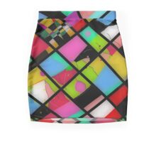 NEW FASHION SKIRTS, Bold color abstract Mini Skirt