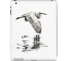 Egret with no time for regret. iPad Case/Skin