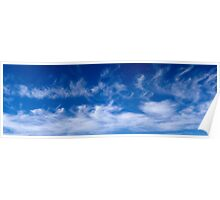 Summer's day cloud formation Poster