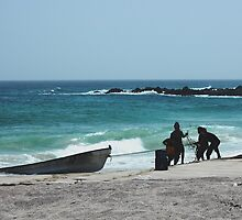 Fishermen, Arabian Sea, Raz Madrakah, Oman by Rob  Holcomb