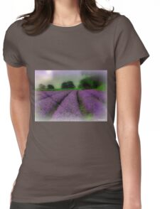 Lavender Fields Womens Fitted T-Shirt