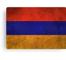 Old and Worn Distressed Vintage Flag of Armenia Canvas Print