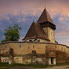 Fortified Axente Sever Church  (Asszonyfalva Frauendorf) by Maria Draper