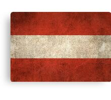 Old and Worn Distressed Vintage Flag of Austria Canvas Print