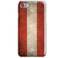 Old and Worn Distressed Vintage Flag of Austria iPhone Case/Skin